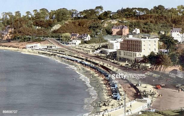 Perros Guirec Trestraou beach postcard c 1960
