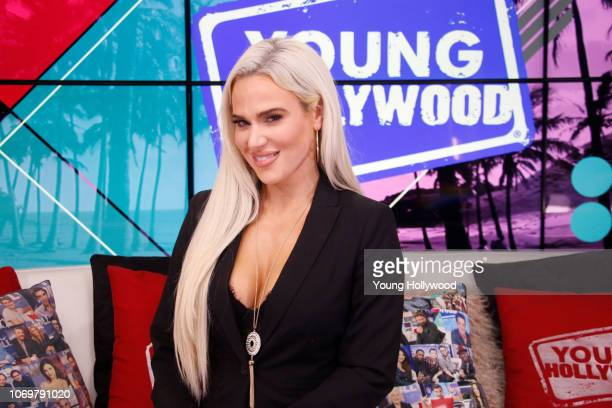 CJ Perry aka WWE Superstar Lana visits the Young Hollywood Studio on November 19 2018 in Los Angeles California