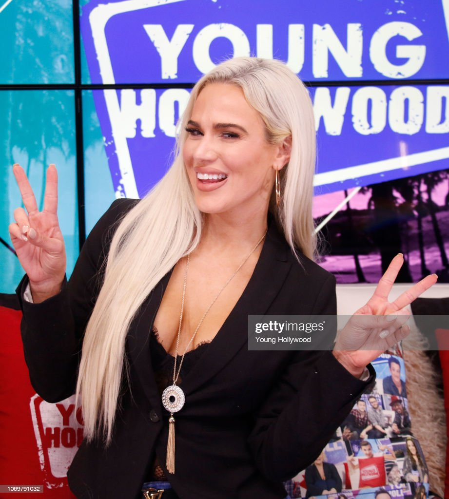 WWE Superstar Lana Visits Young Hollywood Studio : News Photo