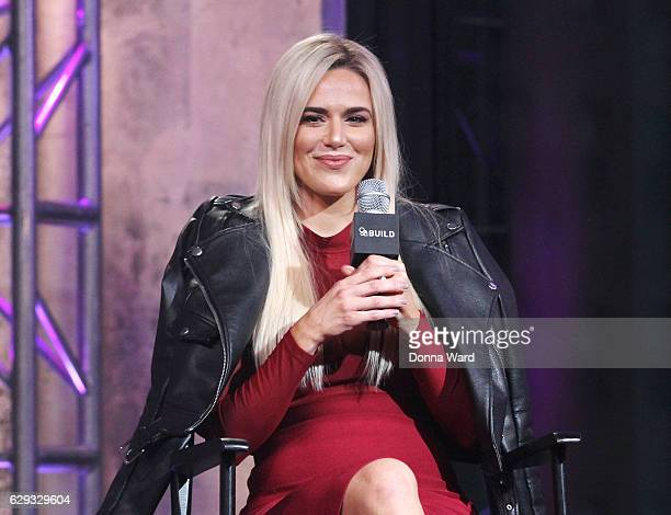 """Perry appears to promote """"Total Divas"""" during the AOL BUILD Series at AOL HQ on December 12, 2016 in New York City."""