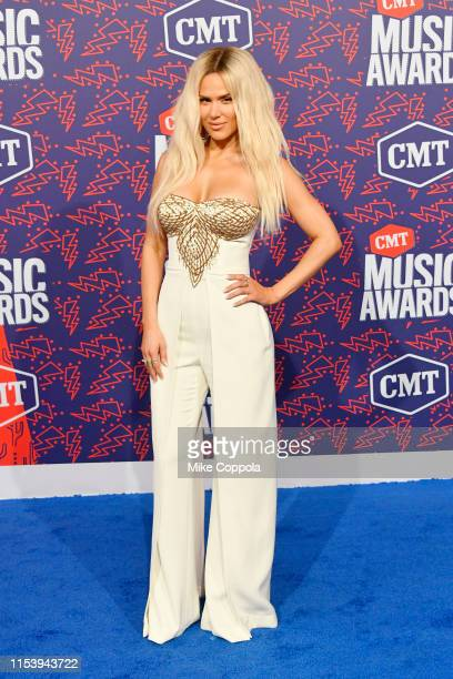 Perry attends the 2019 CMT Music Award at Bridgestone Arena on June 05 2019 in Nashville Tennessee