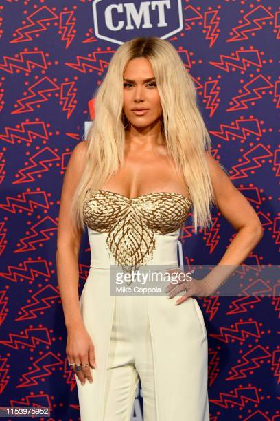 Perry attends the 2019 CMT Music Award at Bridgestone Arena on June 05, 2019 in Nashville, Tennessee.