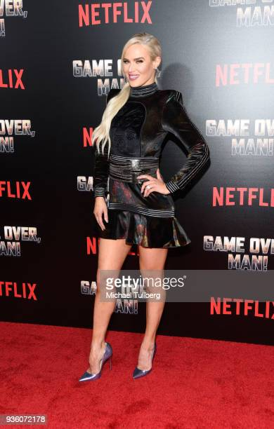 Perry attends the premiere of Netflix's Game Over Man at Regency Village Theatre on March 21 2018 in Westwood California