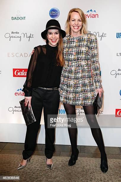 Perry Baumeister and Simone Hanselmann attend the 'Berlin Opening Night Of Gala Ufa Fiction on February 05 2015 in Berlin Germany