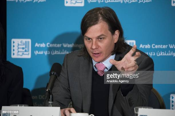 Perry Cammack Fellow at the Carnegie Endowment for International Peace speaks during a panel discussion on 'Jerusalem The Fatal Blow to Trump's...