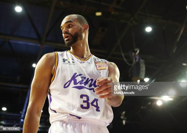 Perry Ellis of the Kings looks on during the round four NBL match between the Illawarra Hawks and the Sydney Kings at Wollongong Entertainment Centre...