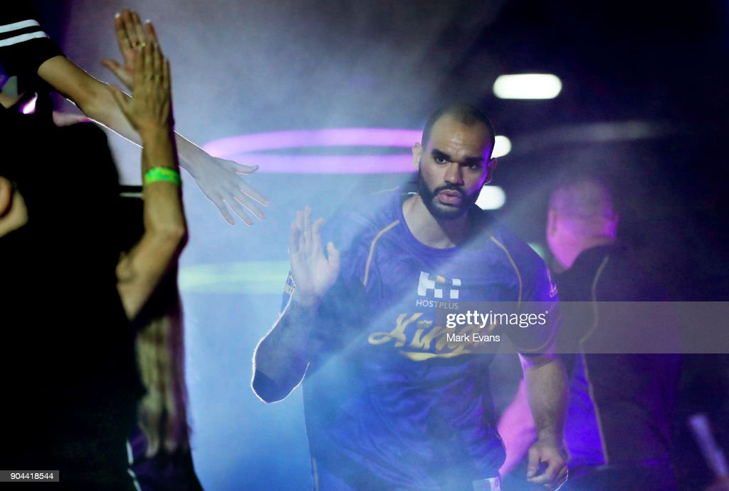 Perry Ellis of the Sydney Kings enters the arena during the round 14 NBL match between the Sydney Kings and the Adelaide 36ers at Qudos Bank Arena on January 13, 2018 in Sydney, Australia.