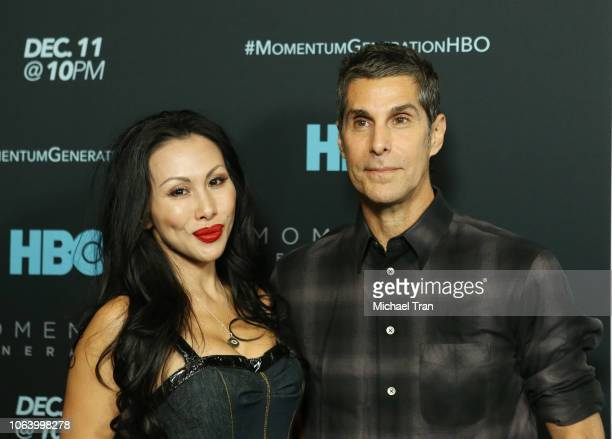 Perry Farrell and Etty Lau Farrell attend HBO's Momentum Generation premiere held at The Broad Stage on November 05 2018 in Santa Monica California