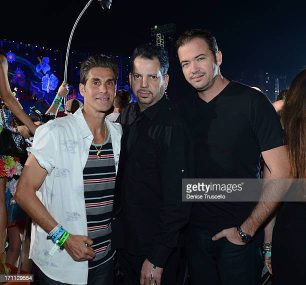 Perry Farrell and Tommy Lipnick during the 17th annual Electric Daisy Carnival at Las Vegas Motor Speedway on June 21 2013 in Las Vegas Nevada
