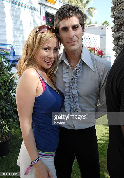Perry Farrell and wife Etty during 2006 Coachella Valley Music and Arts Festival Day One Sightings at Empire Polo Field in Indio California United...