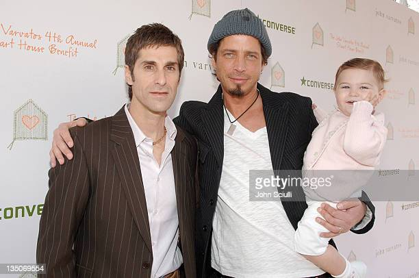 Perry Farrell Chris Cornell and daughter Toni Cornell