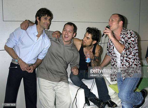 Perry Farrell Dave Navarro and Stephen Perkins of Jane's Addiction with guest