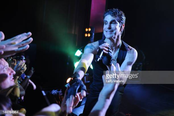 Perry Farrell of Janes Addiction performs at Fillmore Miami Beach on May 18 2012 in Miami Beach Florida