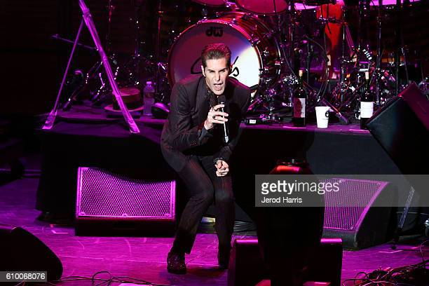 Perry Farrell of Janes Addiction performs at Jack FM's 11th Show at Irvine Meadows Amphitheatre on September 23 2016 in Irvine California