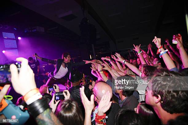 Perry Farrell of Jane's Addiction performs at the Playboy party during day 3 of the 2009 SXSW Music and Media Conference on March 20 2009 in Austin...