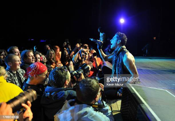 Perry Farrell of Jane's Addiction performs during the 2013 Rockstar Energy UPROAR Festival at Nikon at Jones Beach Theater on August 18, 2013 in...
