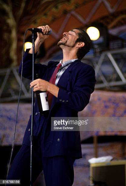 Perry Farrell of Porno for Pyros performs at Woodstock 94 Saugerties New York August 13 1994