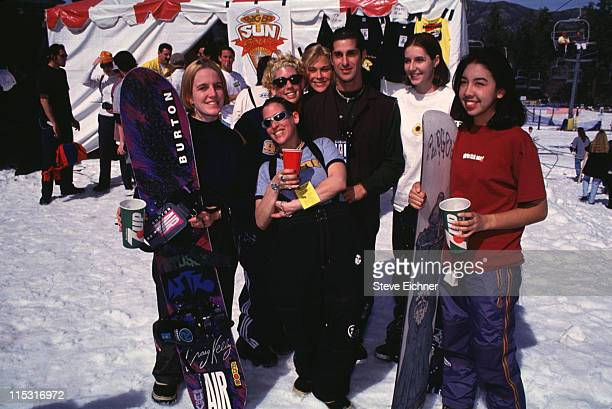 Perry Farrell of Porno For Pyros with snowboarders