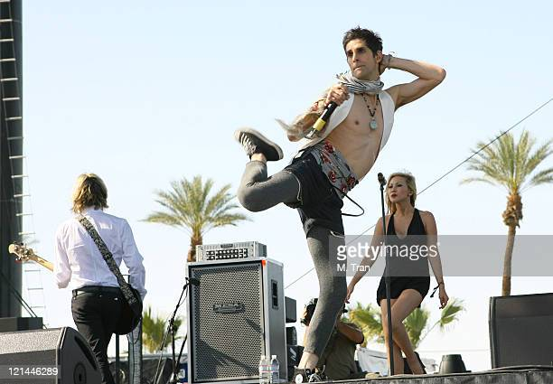 Perry Farrell of Satellite Party during Coachella Valley Music and Arts Festival Day One Satellite Party at Empire Polo Field in Indio California...