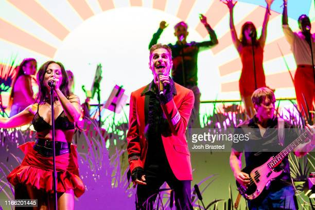 Perry Farrell performs with the Kind Heaven Orchestra at the Lollapalooza Music Festival at Grant Park on August 04 2019 in Chicago Illinois
