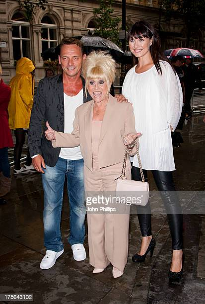 Perry Fenwick Barbara Windsor and Emma Barton attend a special performance of Spamalot starring Barbara Windsor at Playhouse Theatre on August 5 2013...