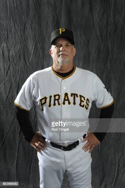 Perry Hill of the Pittsburgh Pirates poses during photo day at the Pirates spring training complex on February 22 2009 in Bradenton Florida