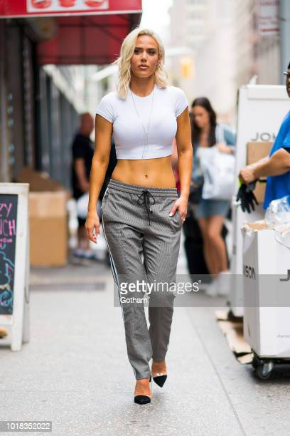 Perry is seen in Chelsea on August 17 2018 in New York City