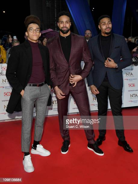Perry Kiely Ashley Banjo and Jordan Banjo attend the National Television Awards held at the O2 Arena on January 22 2019 in London England