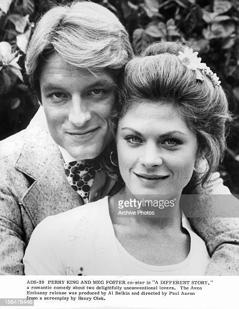 Perry King And Meg Foster in publicity portrait for the film 'A Different Story' 1978
