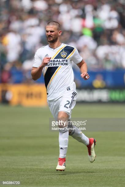 Perry Kitchen of Los Angeles Galaxy during the MLS match between Los Angeles FC and Los Angeles Galaxy at StubHub Center on March 31 2018 in Carson...