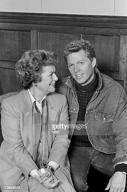 Perry Mason The Case of the Notorious Nun Pictured Barbara Hale as Della Street and William Katt as Paul Drake Jr