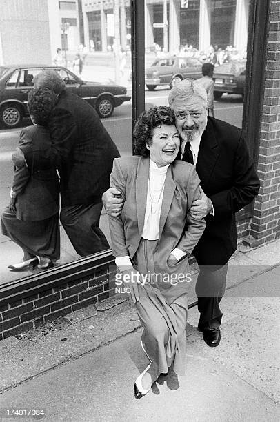 Perry Mason The Case of the Shooting Star Pictured Barbara Hale as Della Street and Raymond Burr as Perry Mason