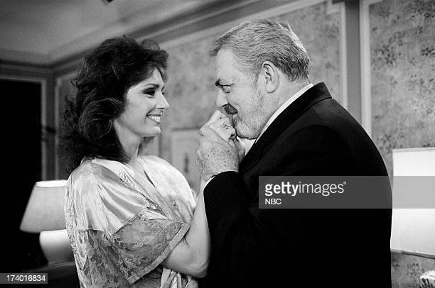 Perry Mason The Case of the Shooting Star Pictured Jennifer O'Neill as Alison Carr and Raymond Burr as Perry Mason