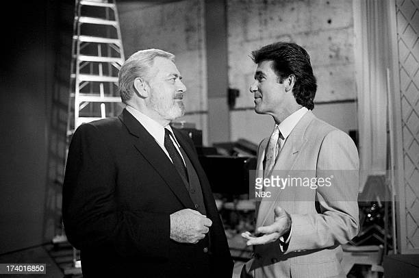 Perry Mason The Case of the Shooting Star Pictured Raymond Burr as Perry Mason and Alan Thicke as Steve Carr