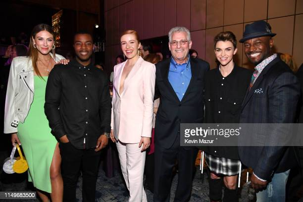 Perry Mattfeld Daniel Ezra Kennedy McMann President of The CW Television Network Mark Pedowitz Ruby Rose and Taye Diggs attend the The CW Network...