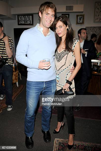 Perry Moore and Allison Sarofim attend A Private Dinner to celebrate the opening of HUNT SLONEM'S Exhibition 'THE FEATHER GAME' at Hunt Slonem Studio...
