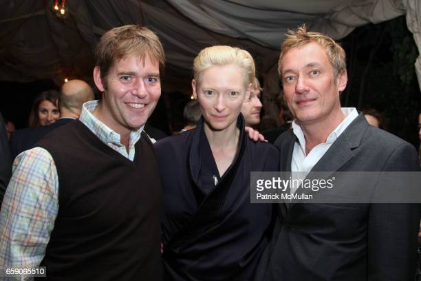 Perry Moore Tilda Swinton and Hunter Hill attend Screening of Magnolia Pictures JULIA after party hosted by ALLISON SAROFIM and STUART PARR at...