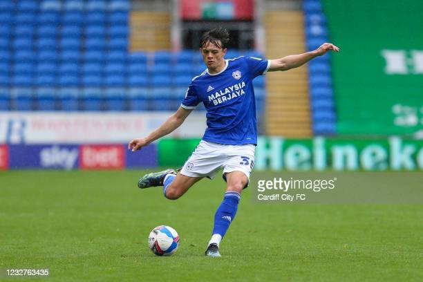 Perry NG of Cardiff City FC during the Sky Bet Championship match between Cardiff City and Rotherham United at Cardiff City Stadium on May 8, 2021 in...