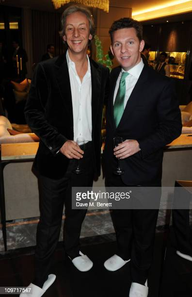 Perry Oosting and Nick Candy attend the launch party for the new Vertu phone at One Hyde Park on March 2, 2011 in London, England.