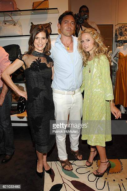 Perry Reeves Gregory Parkinson and Rachel Zoe attend DECADESTWO and HAUTELOOKCOM celebrate the release of Sex and The City the Movie at Decadestwo...