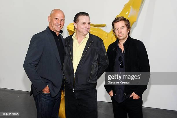 Perry Rubenstein Georg Herold and Friedrich Kunath attend Georg Herold Dear Hunter on April 18 2013 in Los Angeles California