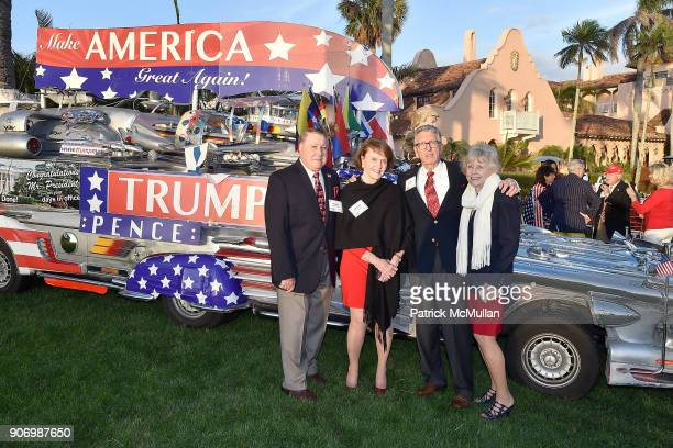 Perry Spencer Virginia Spencer Tim Gaskill and Tana Gaskill attend President Trump's one year anniversary with over 800 guests at the winter White...