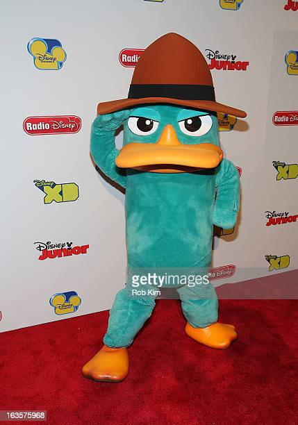 Perry the Platypus attends the Disney Channel Kids Upfront 2013 at Hudson Theatre on March 12 2013 in New York City