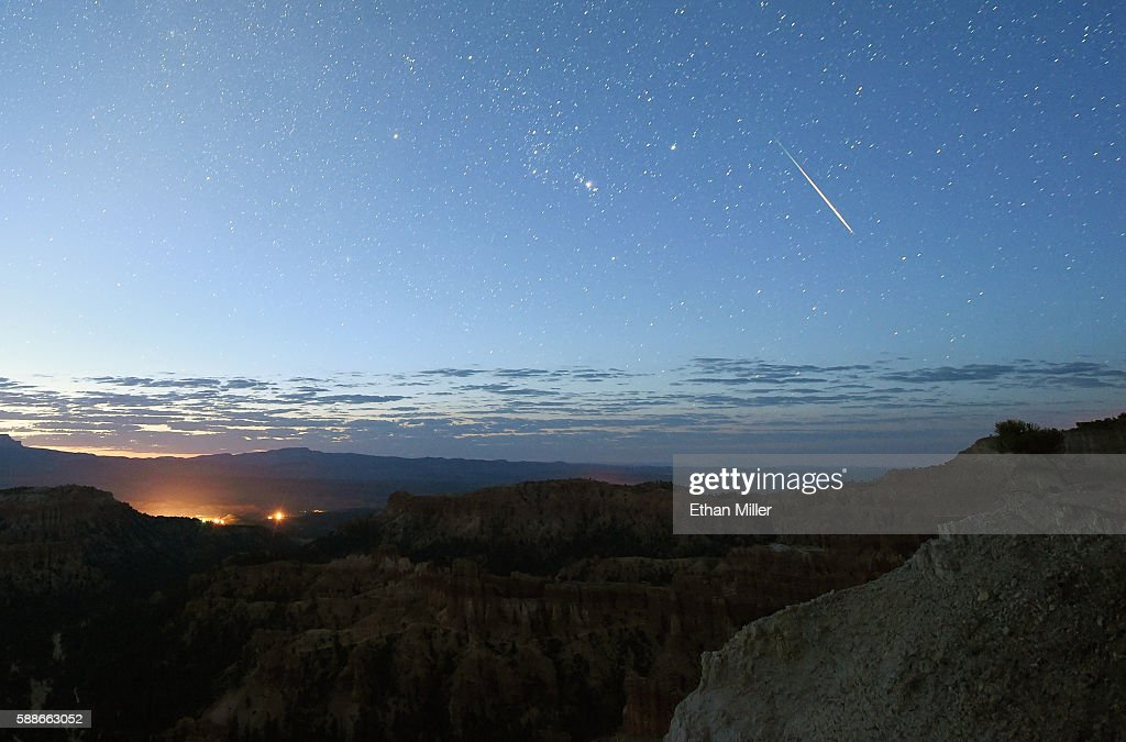 The Annual Perseid Meteor Shower From Bryce Canyon National Park : News Photo