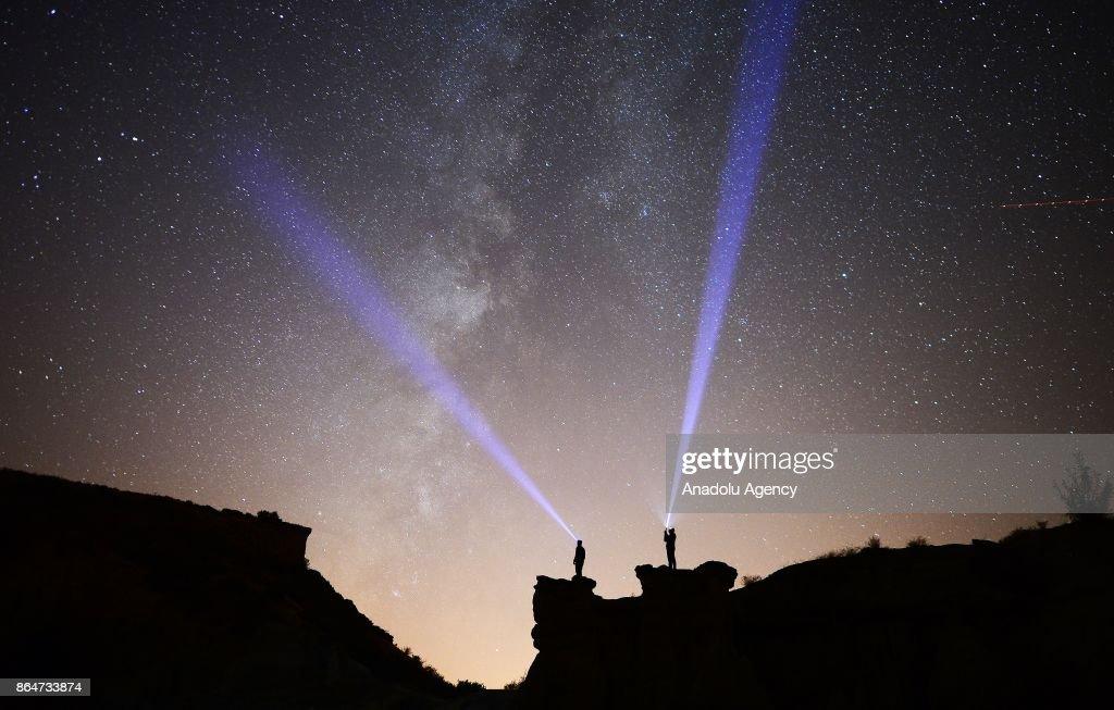 Perseid Meteor Shower in Turkey's Manisa : News Photo
