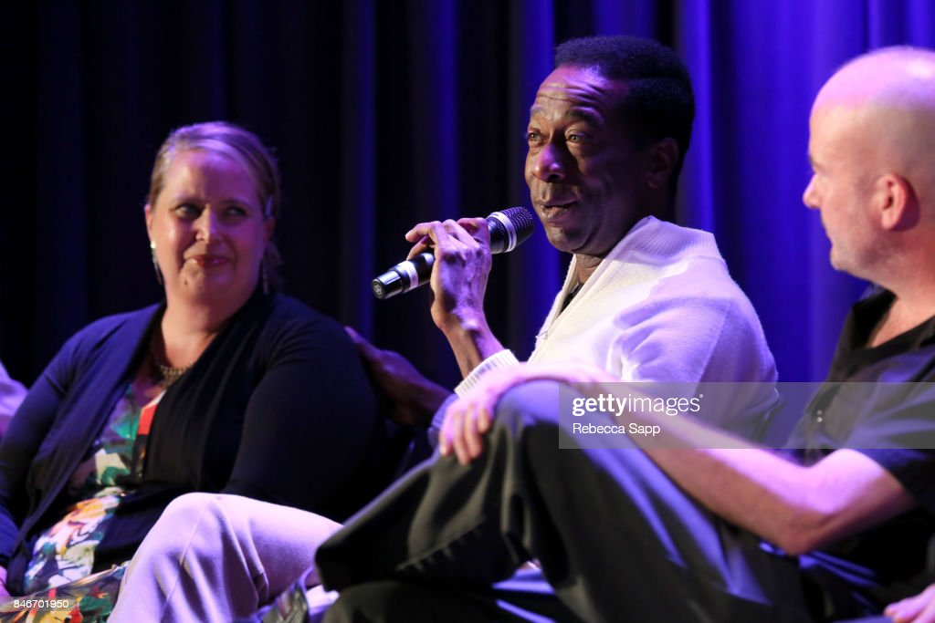 Persephone 'Queen PÓ Laird, Greg Lee and Brian Dixon speak onstage at History of LA Ska at The GRAMMY Museum on September 13, 2017 in Los Angeles, California.