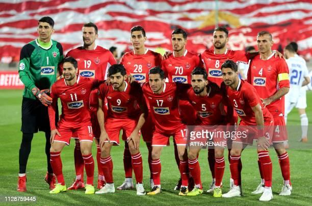 Persepolis' goalkeeper Alireza Beiranvand forward Mario Budimir defender Mohammad Naderi forward Ali Alipour midfielder Ahmad Nourollahi defender...