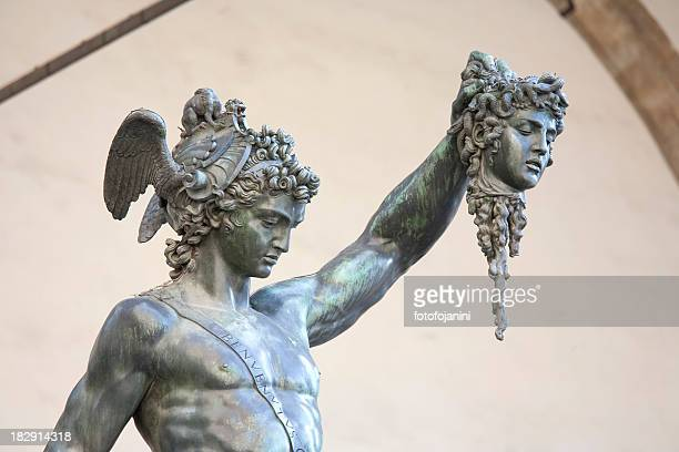 perseus and medusa - medusa stock photos and pictures