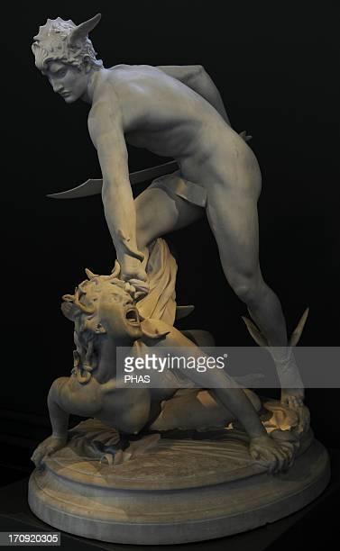 Perseus slaying Medusa 1903 by LaurentHonore Marqueste Ny Carlsberg Glytotek Copenhagen Denmark