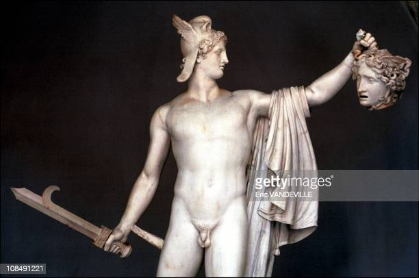 Perseus triumphs over Medusa one of Canova's works in Rome Italy on March 28th 2000